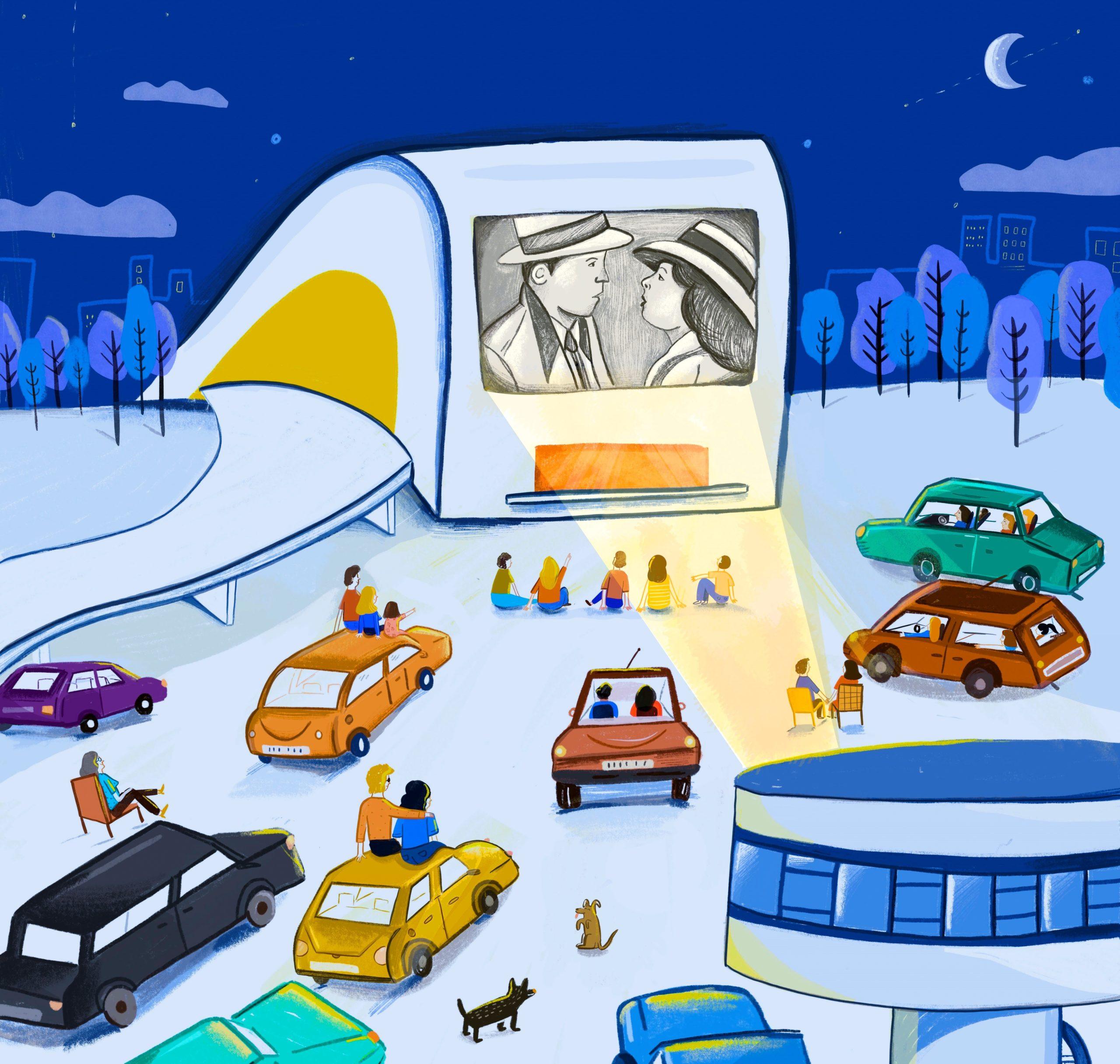 Cinco nuevo pases del autocine del Centro Niemeyer gracias al éxito de público